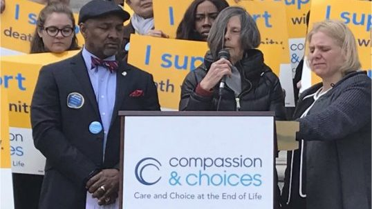 Compassion and Choices rally image